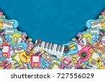 music concept. musical... | Shutterstock .eps vector #727556029