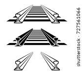 steel train rail track profile...   Shutterstock .eps vector #727561066