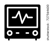 medical monitor icon  | Shutterstock .eps vector #727564600