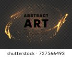 abstract glowing magic stars... | Shutterstock .eps vector #727566493