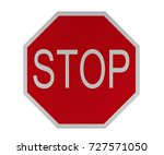 traffic sign  stop  give way ... | Shutterstock . vector #727571050