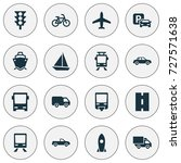transportation icons set.... | Shutterstock .eps vector #727571638