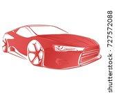 sport car. modern car on a... | Shutterstock .eps vector #727572088