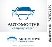 automotive logo template design ... | Shutterstock .eps vector #727573990