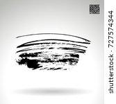 black brush stroke and texture. ... | Shutterstock .eps vector #727574344
