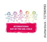 international day of the girl... | Shutterstock .eps vector #727580983
