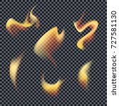 vector fire. fiery tongues on a ... | Shutterstock .eps vector #727581130