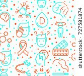 multiple sclerosis seamless... | Shutterstock .eps vector #727581874