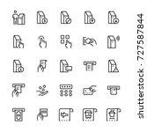 self service terminals icon set.... | Shutterstock .eps vector #727587844