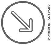 pointer  arrow in modern flat... | Shutterstock . vector #727589290