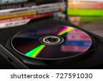 compact discs and disc boxes | Shutterstock . vector #727591030
