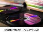 compact discs and disc boxes | Shutterstock . vector #727591060