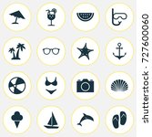 sun icons set. collection of... | Shutterstock .eps vector #727600060