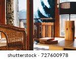 mountain chalet interior  | Shutterstock . vector #727600978