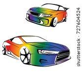 gay sport car vector | Shutterstock .eps vector #727604524