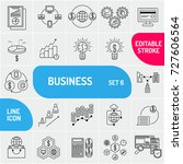 business line icons. universal... | Shutterstock .eps vector #727606564