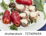 confit of san marzano tomatoes... | Shutterstock . vector #727609654
