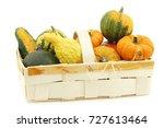 colorful decorative pumpkins... | Shutterstock . vector #727613464