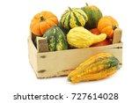 colorful decorative pumpkins in ... | Shutterstock . vector #727614028