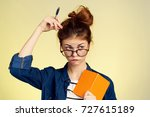 student thinks  study ... | Shutterstock . vector #727615189
