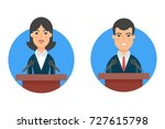 politicians  female and male... | Shutterstock .eps vector #727615798