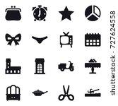 16 vector icon set   purse ...