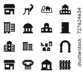 16 vector icon set   shop ... | Shutterstock .eps vector #727624654