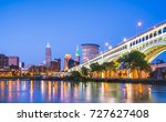 cleveland skyline with... | Shutterstock . vector #727627408