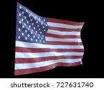 american flag waving in wind... | Shutterstock . vector #727631740
