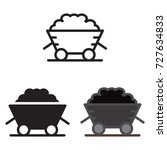 coal trolley icon in three... | Shutterstock .eps vector #727634833