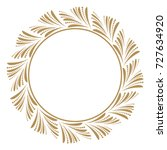 decorative line art frames for... | Shutterstock .eps vector #727634920