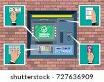 bank atm. automatic teller... | Shutterstock .eps vector #727636909