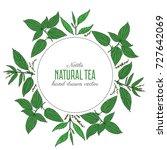 seamless floral pattern  nettle ... | Shutterstock .eps vector #727642069