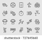 soccer sports line icon | Shutterstock .eps vector #727645660