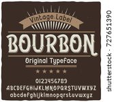 vintage label typeface named ... | Shutterstock .eps vector #727651390