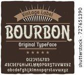 vintage label typeface named ... | Shutterstock .eps vector #727651390