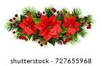 christmas line arrangement with ... | Shutterstock . vector #727655968