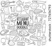 restaurant menu food... | Shutterstock .eps vector #727656793