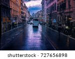 street view of raining day and... | Shutterstock . vector #727656898