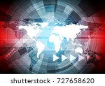 abstract red and blue... | Shutterstock .eps vector #727658620