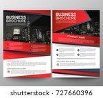 business brochure flyer design...   Shutterstock .eps vector #727660396