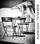 sunny courtyard | Shutterstock . vector #727663858