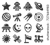 space icons set | Shutterstock .eps vector #727664983