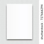 a4 sized vector poster blank... | Shutterstock .eps vector #727666294