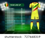 mali soccer jersey kit with... | Shutterstock .eps vector #727668319
