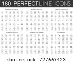 180 modern thin line icons set... | Shutterstock .eps vector #727669423