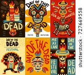day of dead mexican national... | Shutterstock .eps vector #727669558
