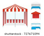 realistic tent color set of... | Shutterstock .eps vector #727671094