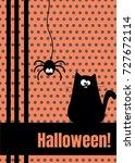 happy halloween greeting card... | Shutterstock . vector #727672114