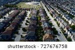 Small photo of Aerial View Of Subdivision Homes In Vaughan Ontario